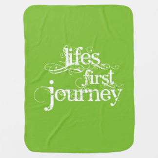 """""""Life's First Journey"""" Stroller/Carseat Blanket"""