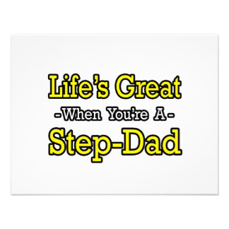 Life s Great When You re a Step-Dad Personalized Announcement