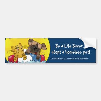 Life Saver- Adopt Homeless Pets Bumper Sticker