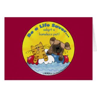 Life Saver- Adopt Homeless Pets Card