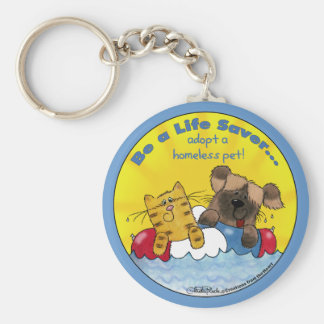 Life Saver- Adopt Homeless Pets Keychain