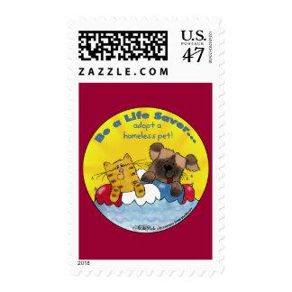 Life Saver Adopt Homeless Pets Postage Stamp
