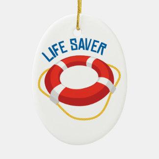 Life Saver Ceramic Ornament