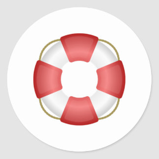 Life Saver Personal Flotation Device Classic Round Sticker