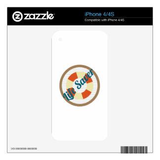Life Saver iPhone 4S Skin