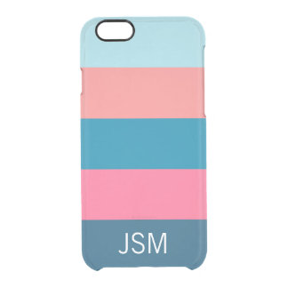 Life Saver Stripe Coral Clear iPhone 6/6S Case