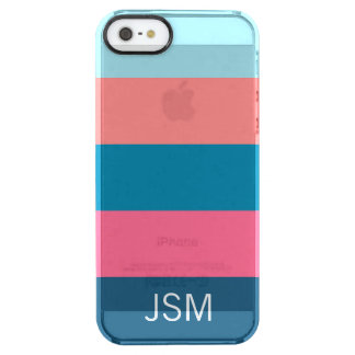 Life Saver Stripe Coral Clear iPhone SE/5/5s Case