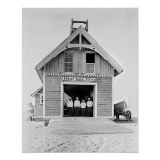 Life Saving Station, 1902. Vintage Photo Poster