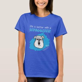 Life... Schnauzer - Dark T-Shirt (Women)
