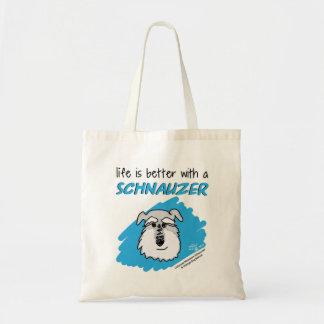 Life... Schnauzer - Tote Bag (Blue)