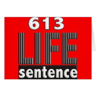 Life Sentence Card