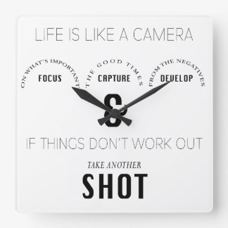 Life Shot Photographer Camera Phrase Clock