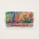 """""""life Should Be Colorful"""" Customizable Business Ca Business Card at Zazzle"""