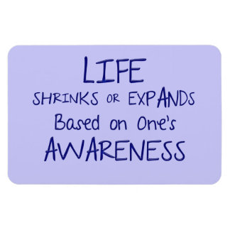 Life Shrinks or Expands based on one's Awareness Magnet