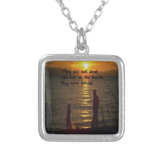 Life Silver Plated Necklace