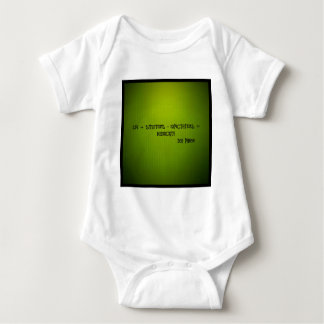 life + situations-expectation= mediocrity baby bodysuit