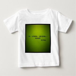 life + situations-expectation= mediocrity baby T-Shirt