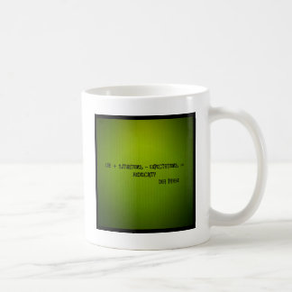 life + situations-expectation= mediocrity coffee mug