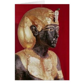 Life size statue of Tutankhamun Card