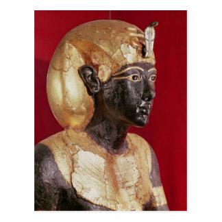 Life size statue of Tutankhamun Postcard
