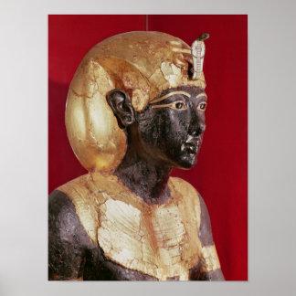 Life size statue of Tutankhamun Poster