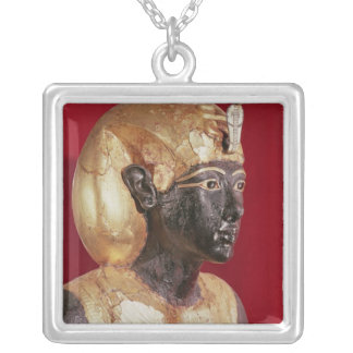 Life size statue of Tutankhamun Silver Plated Necklace