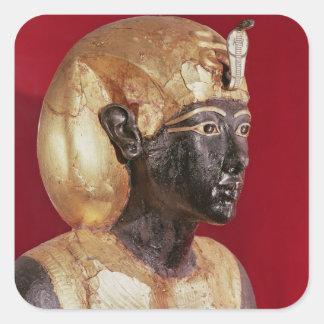 Life size statue of Tutankhamun Square Sticker