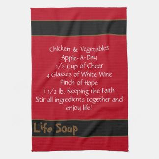 Life Soup Kitchen Towel-Double Stripe Kitchen Towel