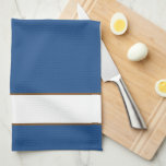 """Life Soup Kitchen Towels<br><div class=""""desc"""">Waffle weave towel is  Royal Blue colored with White &amp; Brown text and striping on a whimsical towel with a cute slant on life. Customize or buy as is.</div>"""
