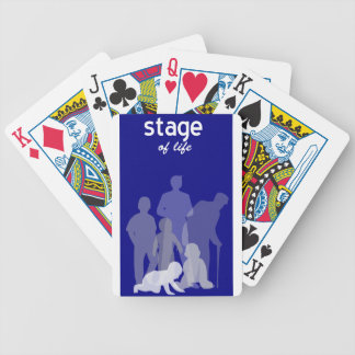 Life stages bicycle playing cards