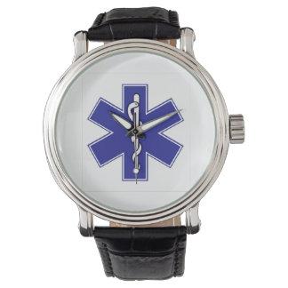 life star ambulance symbol wrist watches