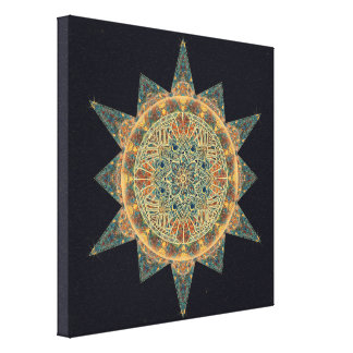 Life Star Mandala Art Canvas Print