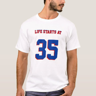 Life Starts At 35 Funny 35th Birthday Fun T-Shirt