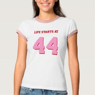 Life Starts At 44 Joke 44th Funny Birthday T-shirts