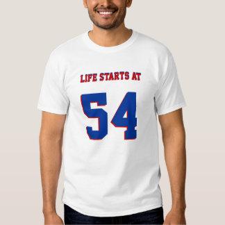 Life Starts At 54 Funny 54th Birthday T-shirt