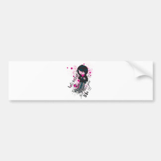 life stinks emo kid bumper sticker