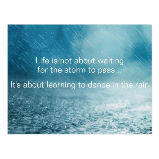 Life Struggles Inspirational Quote Rain Photograph Postcard Zazzlecom
