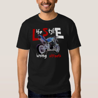 Life Style - burning streets T-shirt