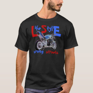 Life Style - burning streets T-Shirt