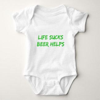 Life Sucks Beer Helps Baby Bodysuit