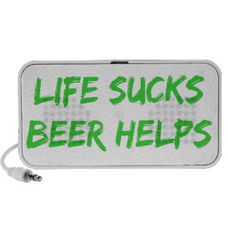 Life Sucks Beer Helps Portable Speaker