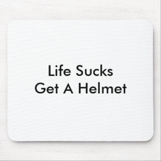 Life Sucks Get A Helmet Mouse Pad