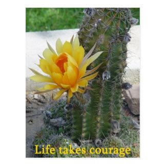 Life Takes Courage Postcard
