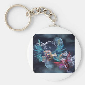LIFE- THE SPIRALING MASQUERADE BASIC ROUND BUTTON KEYCHAIN