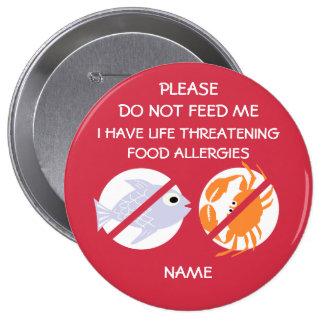 Life Threatening Fish and Shellfish Allergy Pin