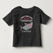 Life Threatening Food Allergies Alert Shark Shirt