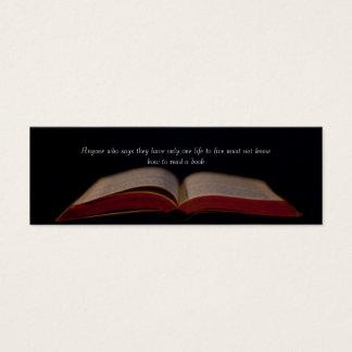 Life through Books bookmark Mini Business Card