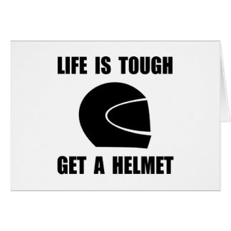 Life Tough Get Helmet Stationery Note Card