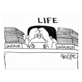 LIFE: Unfair...Unfairer Postcard