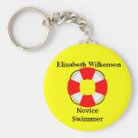 Life Vest Attachment-Name-Swim Skill Key Chains